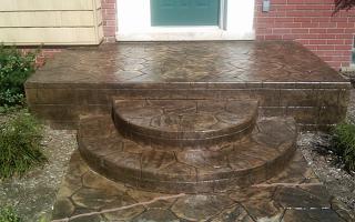 Круглые и полукруглые ступени крыльца дома — фото и дизайн