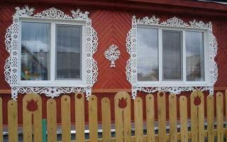 Резные наличники на окна частного дома