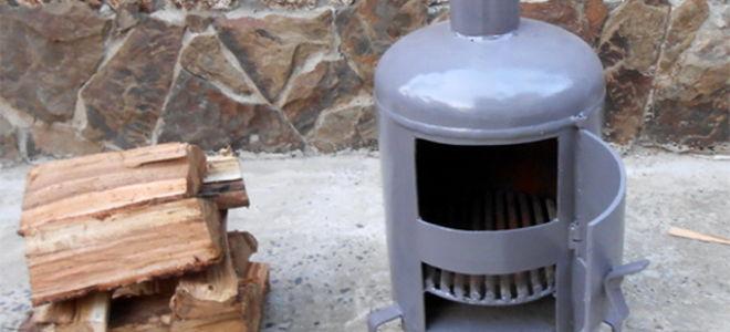 Печка — буржуйка с газового баллона на дровах своими руками — чертежи и устройство