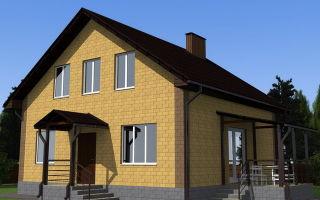 Разумная планировка дома 8 на 8 с мансардой