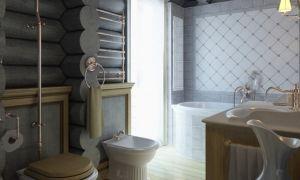 Интерьер туалета в частном доме