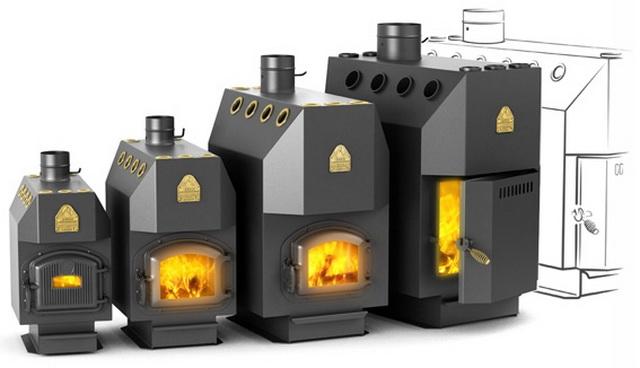 Модельный ряд печей Профессор Бутаков для отопления помещений от 30 до 300 квадратных метров.