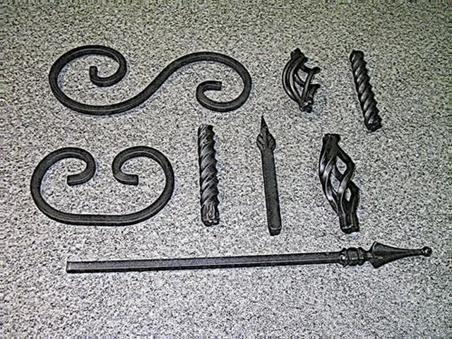 Набор из таких вот кованых элементов и есть ворота.