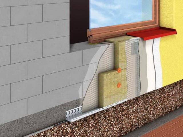 В мокром фасаде доступа воздуха к утеплителю нет.