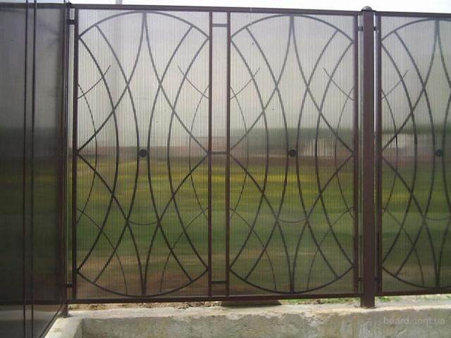 Забор из поликарбоната-1