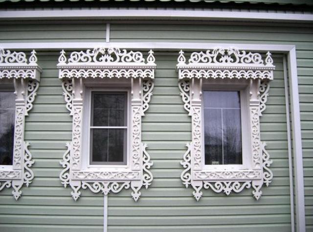 Резные наличники на окна сайдинг 2