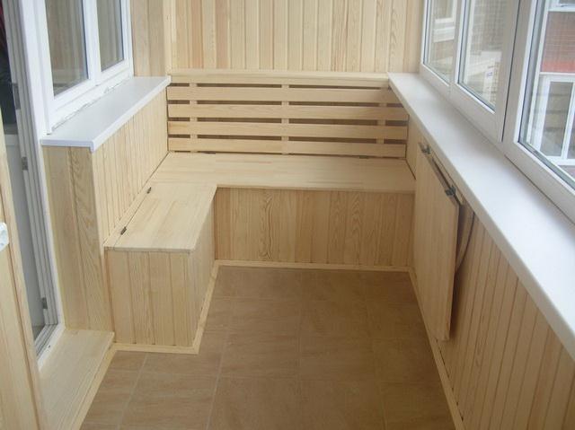 Отделка балкона блок хаусом фото 8
