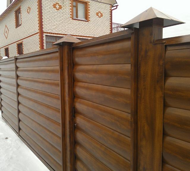 Забор из блок хауса ФОТО 1