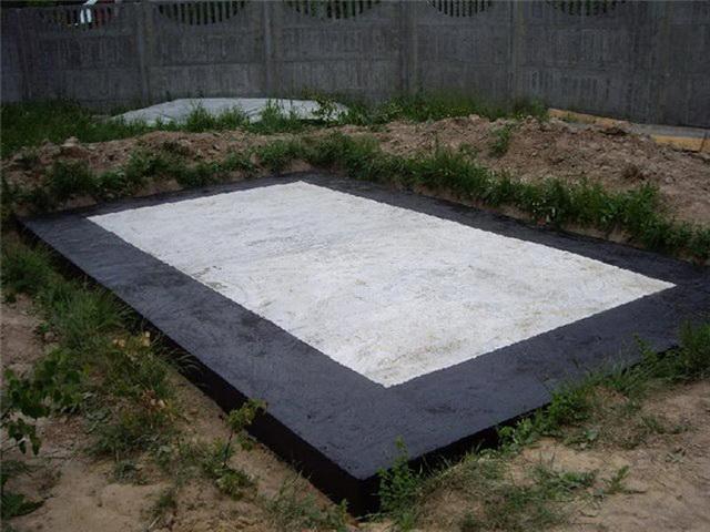 Фундамент из дорожных плит под каркасный дом 3