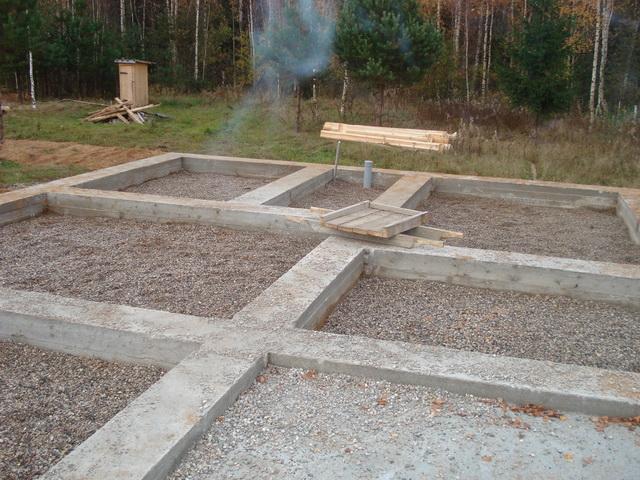Мелкозаглубленный ленточный фундамент своими руками - марка бетона для МЗФЛ 4