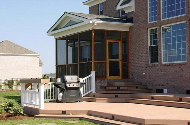 Дизайн крыльца частного дома со ступеньками - фото и варианты 8