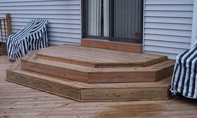 Готовые ступеньки для крыльца из дерева - цена, виды, фото 2