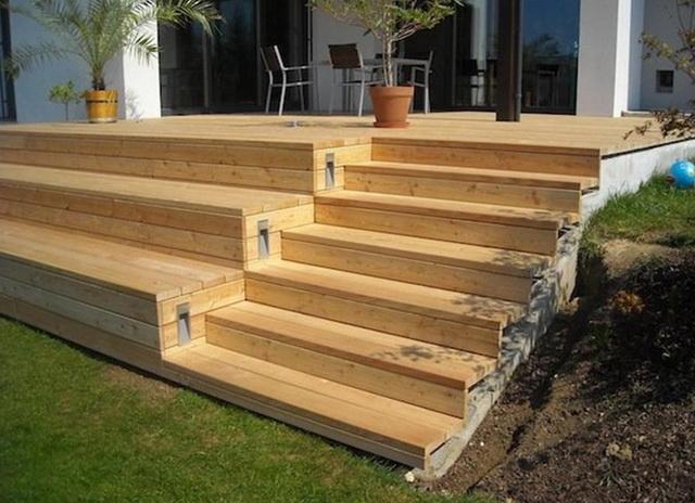 Готовые ступеньки для крыльца из дерева - цена, виды, фото 3