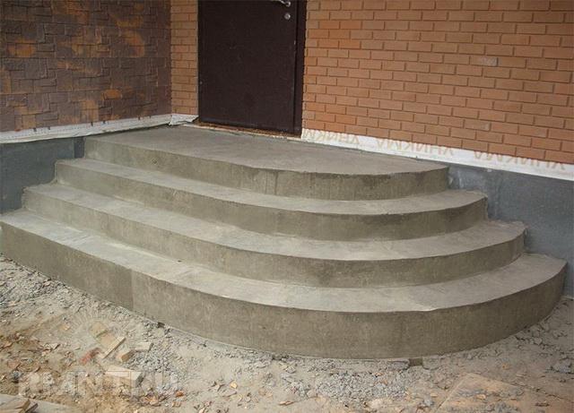 Готовые уличные бетонные ступени для крыльца - бетонная плитка и панели 1