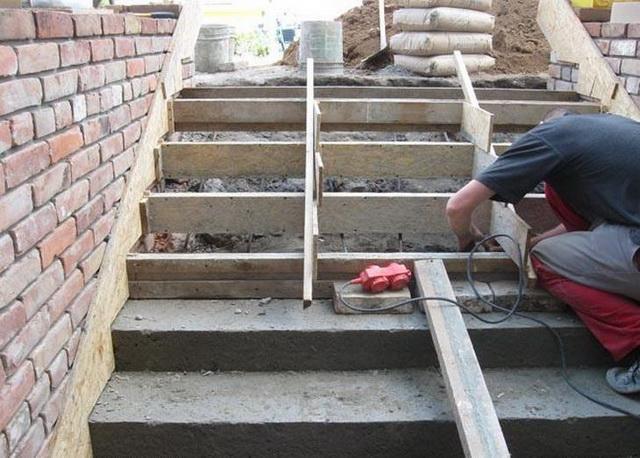 Готовые уличные бетонные ступени для крыльца - бетонная плитка и панели 2
