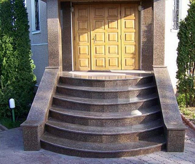 Гранитные ступени для крыльца дома - цена ступеней из гранита 1