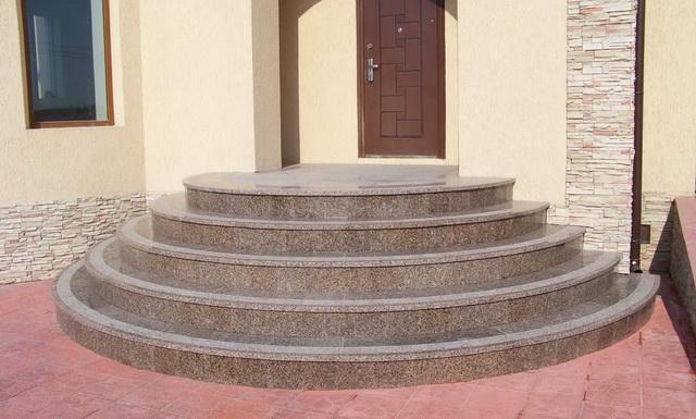 Гранитные ступени для крыльца дома - цена ступеней из гранита 2