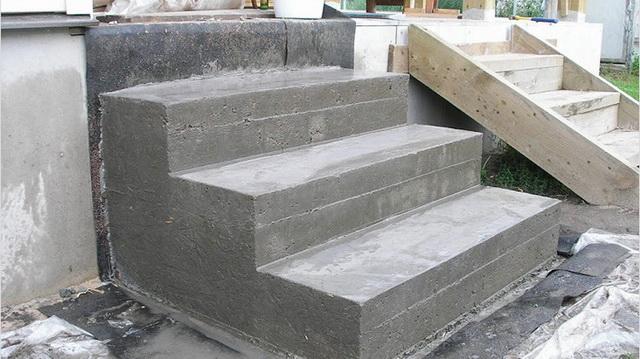 Как сделать бетонные ступеньки для крыльца частного дома 1