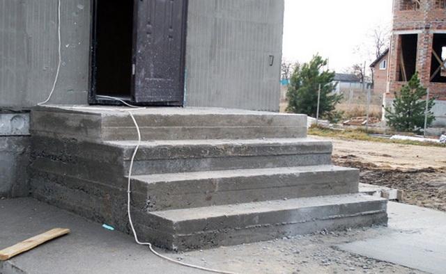 Как сделать бетонные ступеньки для крыльца частного дома 4