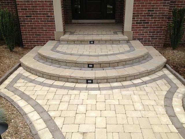 Круглые и полукруглые ступени крыльца дома - фото и дизайн 2