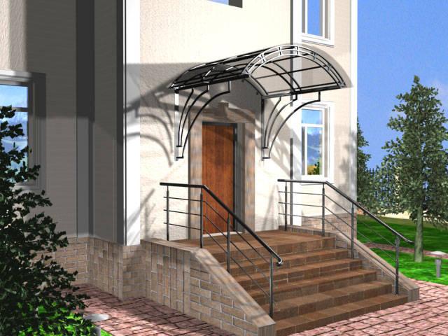 Навесы и козырьки над крыльцом дома – фото и дизайн 1