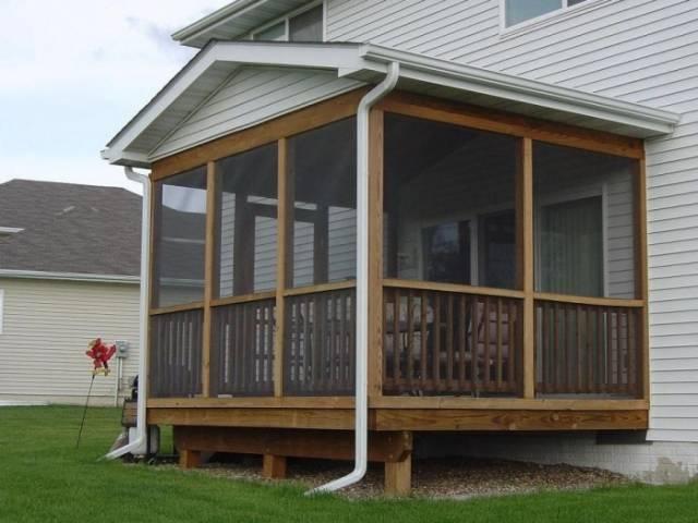 террасы и веранды пристроенные к дому фото 12