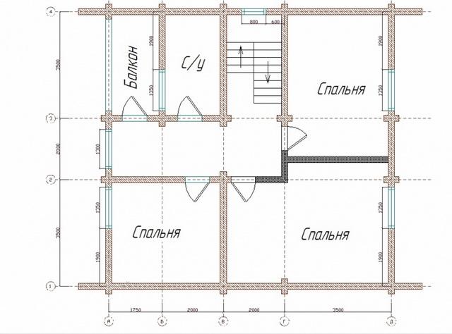 Эффективная планировка дома 9 на 9 с мансардой 2