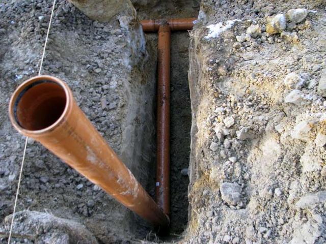 Простая схема канализации для частного одноэтажного дома 4