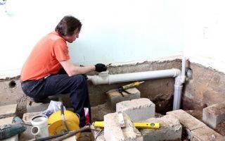 Простая схема канализации для частного одноэтажного дома