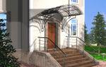 Навесы и козырьки над крыльцом дома – фото и дизайн