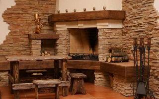 Искусственный камень в деревянном доме – интервью с дизайнером