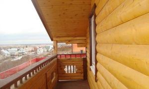 Как отделать балкон или лоджию блок хаусом – фото