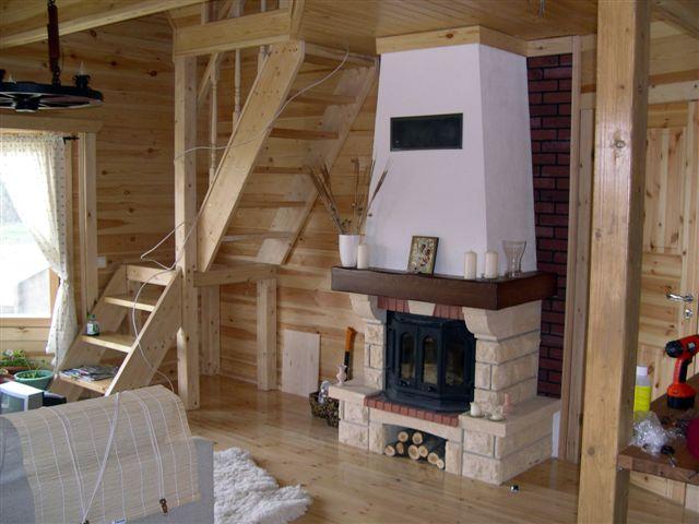Интерьер частного дома своими с печкой руками фото