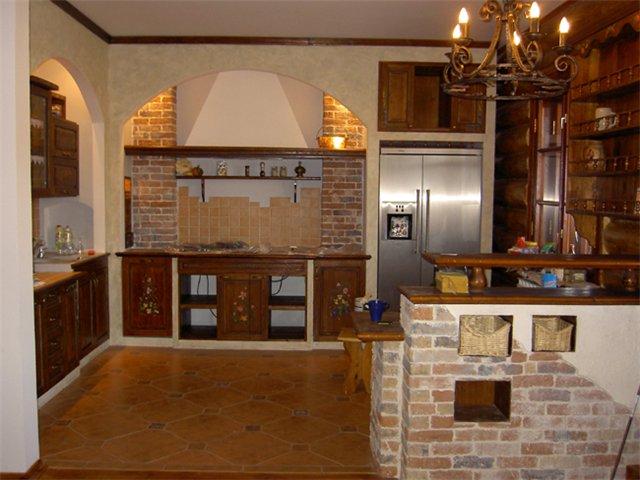 Интерьер кухни в частном доме - уют и достаток в одном флаконе.