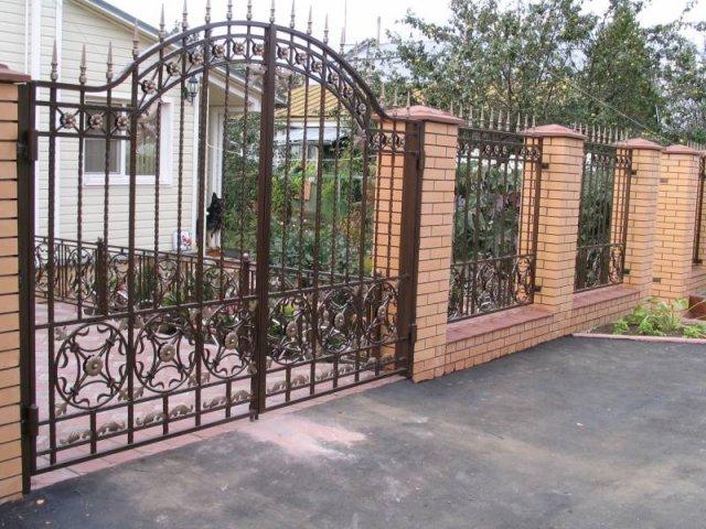 Кованые ворота и калитки А