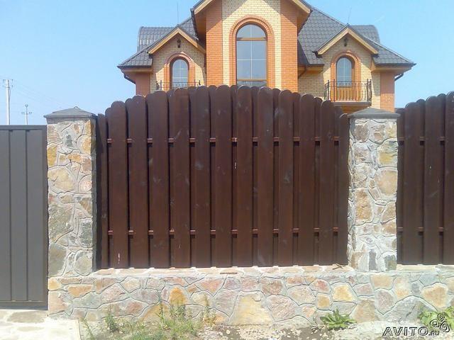 Красивые деревянные заборы фото 3