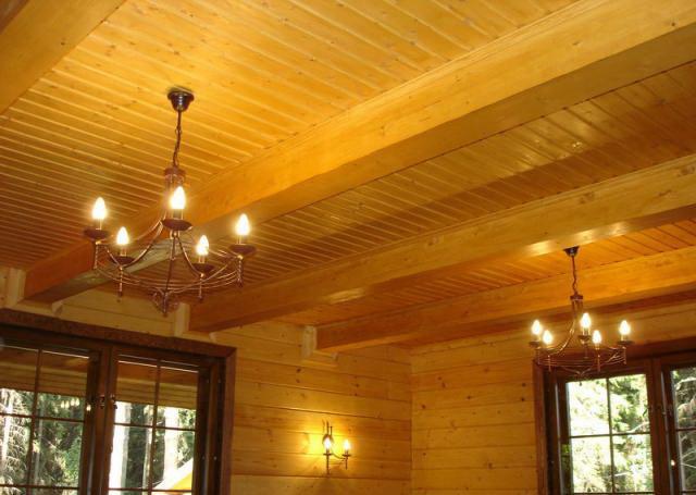 Потолок в частном доме А