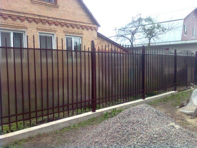 Забор из поликарбоната-5