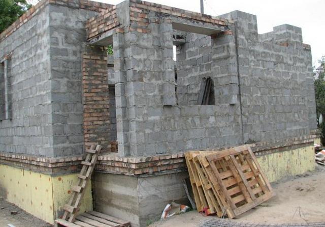 заливка фундамента под дом А