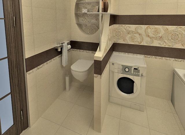 Дизайн ванной совмещенной с санузлом