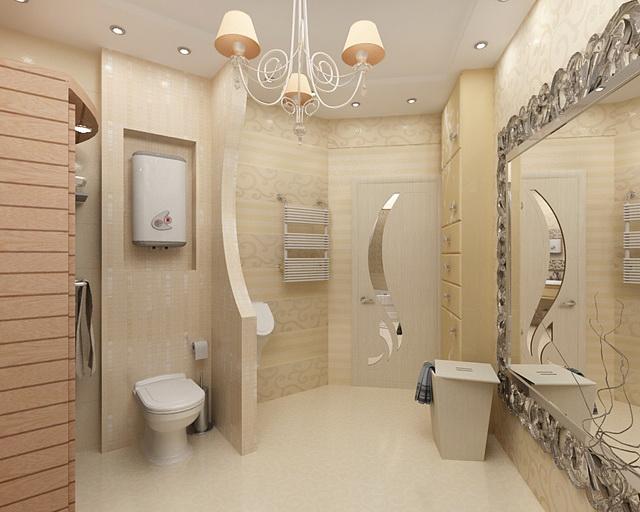 Интерьер ванной комнаты туалета фото