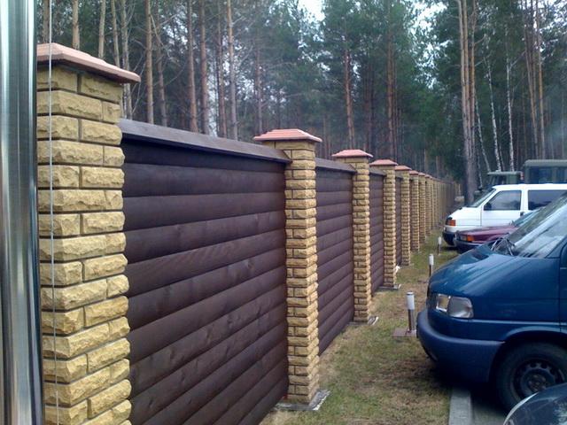 Забор из блок хауса панели
