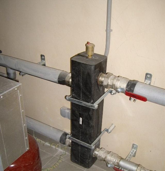 Как работает гидравлическая стрелка в системе отопления 5
