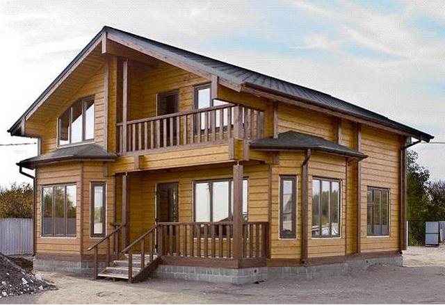 Дома из профилированного бруса - стоимость брусовых домов под ключ 1