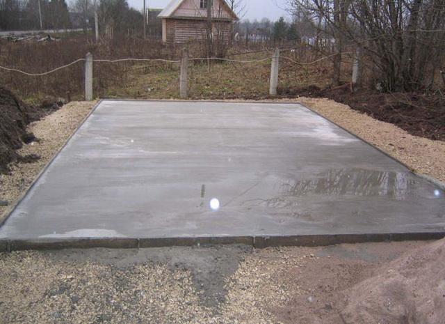 Фундамент из дорожных плит под каркасный дом 1
