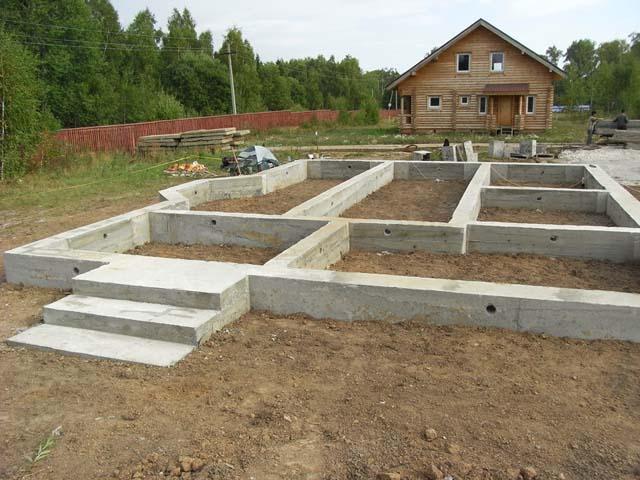 Строим ленточный фундамент - фото, ширина, глубина, арматура, утепление 1