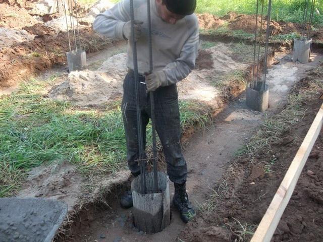 Свайно-ленточный фундамент своими руками - как рассчитать и построить ленточный фундамент дома на склоне 5