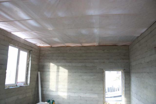 Пароизоляция для потолка в деревянных перекрытиях 1