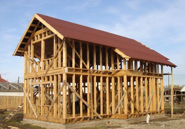 Каркасный дом своими руками строил один 718