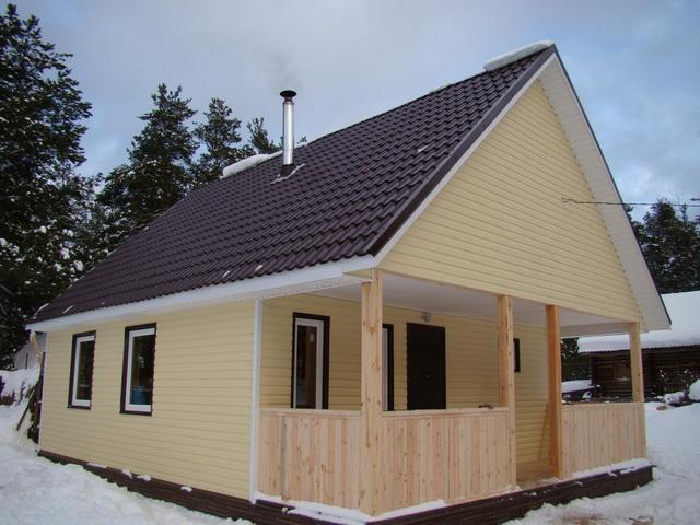 Одноэтажные каркасные дома для постоянного проживания 1